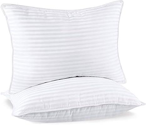Utopia Bedding Colección de Almohada Premium (2-Pack) Almohadas de Cama de Felpa - Almohadas de Mezcla de algodón para Dormir (Blanco, 50x70 cm): Amazon.es: Hogar