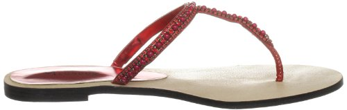 Unze Evening Slippers L18338W - Sandalias para mujer Rojo