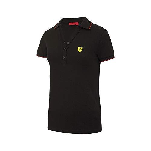 De Ferrari Algodón Negro Mujer Color Team Piqué F1 Polo Para qZxrAZwt