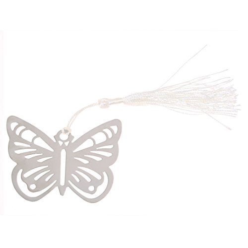 JISETY Hot Bookmarks Bookmark Fringe Butterfly Silver Stainless Steel for Books