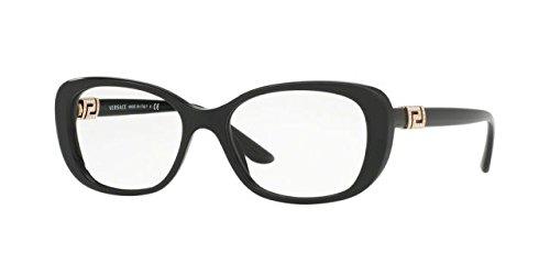 Versace Women's VE3234B Eyeglasses Black 53mm by Versace