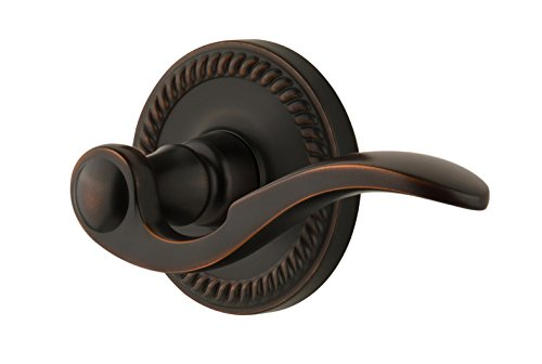 Grandeur GS10-RH-NEWBEL-TB Newport Rosette with Bellagio Lever, Passage Right Handed, Timeless Bronze -