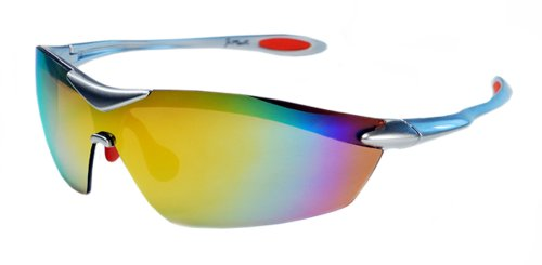 XS Sport Wrap TR90 Sunglasses UV400 Unbreakable Protection for Cycling, Ski or Golf (Silver & - Jimarti Sunglasses