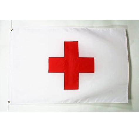 AZ FLAG Bandera de la Cruz ROJA 150x90cm - Bandera HUMANITARIA 90 ...