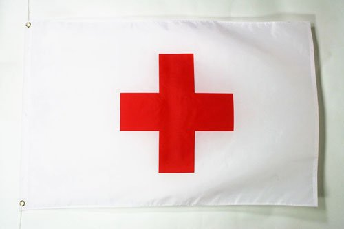 AZ FLAG Red Cross Flag 2' x 3' - humanitarian Flags 60 x 90 cm - Banner 2x3 ft]()