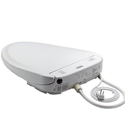TOTO Washlet S300e Elongated Bidet Toilet Seat with ewater+ Sanitization, Cotton White - SW574#01