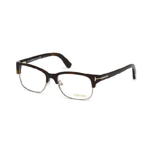 Tom Ford TF5307 053 Mens Shiny Havana/Ruthenium 52 mm Eyeglasses - shiny ()