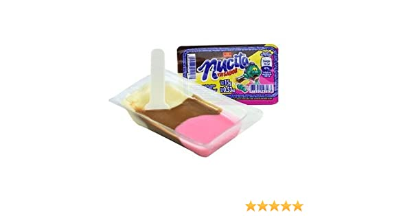 Amazon.com : Authentic Sabores - Imported Mexican Nucita TRISABOR Creamy Candy Chocolate, Vanilla and Strawberry - 16 ct. With 1ct.