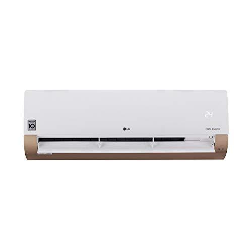 LG 1.5 Ton 3 Star Inverter Split AC (Copper, KS-Q18AWXD, White and Gold)