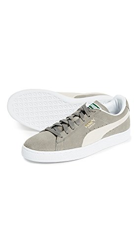 Gray Steeple PUMA Adult White Classic Suede Shoe 4wx0XOqp60