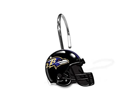Northwest NFL Baltimore Ravens Shower Curtain Rings