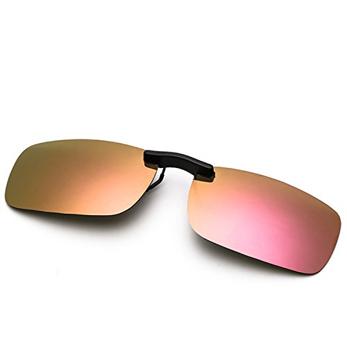 Clip On Sunglasses Men's Titanium Flexible Polarized Lenses Glasses Laura Fairy (A1-Pink, - Prescription Sunglasses Polarized Online