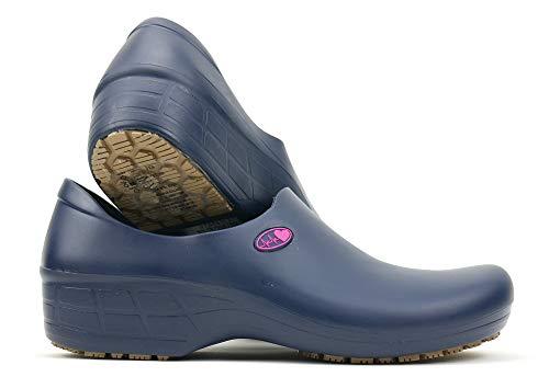 (SSW-AZM-P1C - Women's Cute Nursing Shoes - Waterproof Slip-Resistant - Keep Nursing (6.5, Blue/Pink Electro))