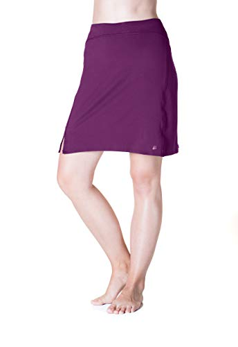 Skirt Sports Women's Happy High Waist Skirt, Grape, ()