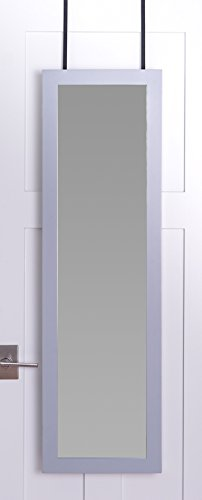 Hives and Honey Wall Mounted Full Length Mirror Door Hanging Jewelry Cabinet by Hives & Honey, Grey