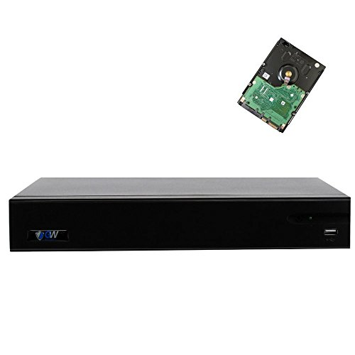 GW Security 16 Channel 960H/CVI/AHD/TVI/IP 5-In-1 1080P Standalone DVR CCTV with Motion Detection 16CH Digital Video Recorder System For Analog IP AHD TVI CVI Security Camera (Pre-installed 4TB - Cctv Digital Systems
