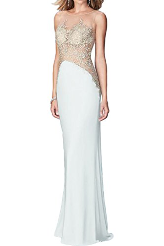 ivyd ressing Mujer utilizada Punta applikation Charmeuse & tuell Prom vestido Fiesta Vestido para vestido de noche Weiß