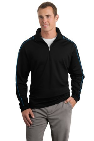 Nike Spandex Cover Up - NIKE GOLF - Dri-FIT 1/2-Zip Cover-Up , 354060, Black/Blue Spark, 3XL