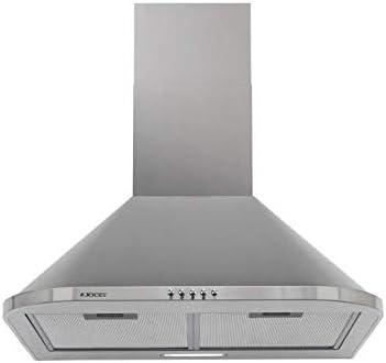 Campana Extractora Decorativa Jocel JCEI60-007551, 630 m³/h, 70 dB, Filtros de aluminio, LED, Inox: Amazon.es: Grandes electrodomésticos