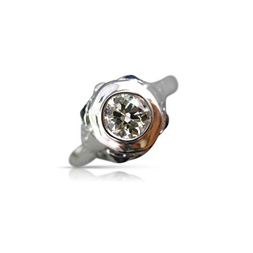 14k Gold 3d Filigree - Milano Jewelers .45CT DIAMOND SAPPHIRE 14K WHITE GOLD 3D FILIGREE ENGAGEMENT RING #25574