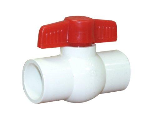 - Valterra 700-10 PVC Ball Valve, White, 1