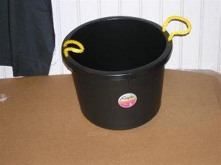 Fortiflex Muck Bucket 40Qt Black