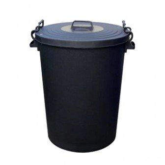 110 Litre Black Bin/Refuse Bin With Lockable Lid