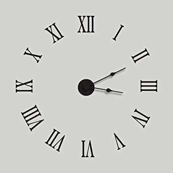 Amazon Com Roman Numeral Wall Clock Removable Vinyl Decal
