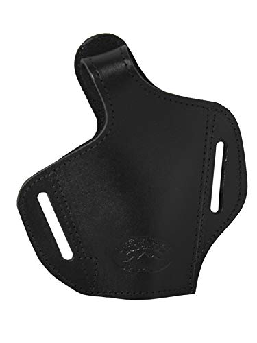 Barsony Black Leather Pancake Holster for Beretta Nano Right