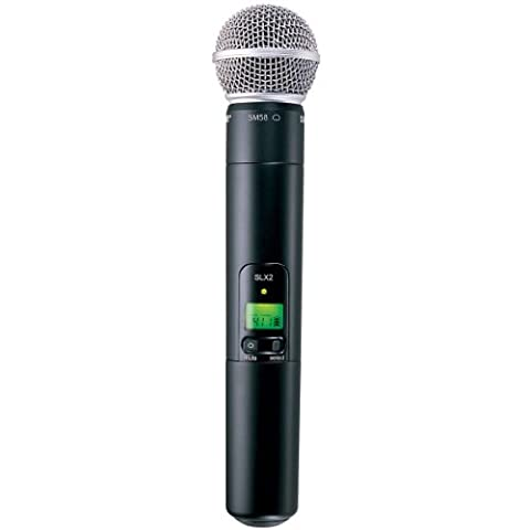 Shure SLX2/SM58 Handheld Transmitter with SM58 Microphone, J3 (Shure Ulx Wireless Microphone)
