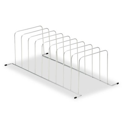 Desktop/Drawer Organizer, Nine Sections, Wire, 11 1/2 x 23 1/4 x 7 1/2, Silver, Sold as 1 Each