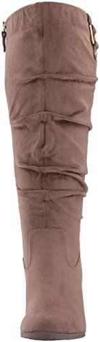 Wide Stucco Scholl's Slouch Dr Women's Poe Microsuede Calf Boot tqxSZzw