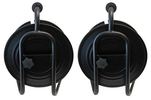 Audio2000'S ADC271BX2 Dual-Pack Heavy-Duty Portable All Metal Cable Reel/Cord Reel, Capacity: 722 feet of 6mm Cord