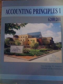 Accounting Principles I