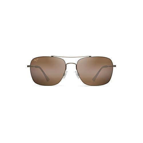 - Maui Jim Lava Tube H786-16M | Polarized Matte Gold Aviator Frame Sunglasses, HCL Bronze Lenses, with with Patented PolarizedPlus2 Lens Technology