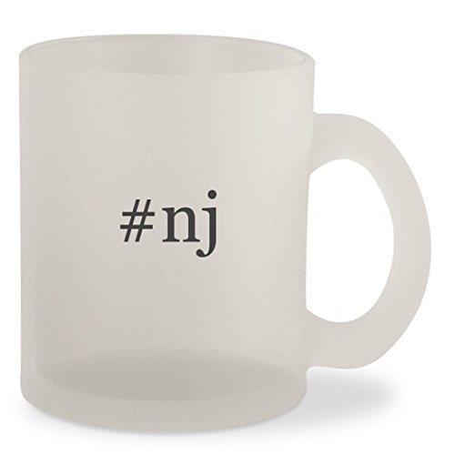 #nj - Hashtag Frosted 10oz Glass Coffee Cup - Flemington Glass