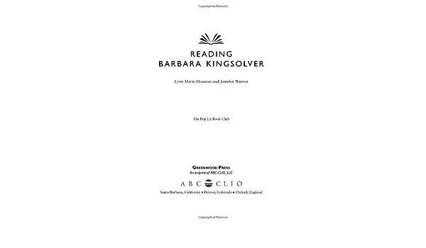 Reading Barbara Kingsolver (The Pop Lit Book Club)
