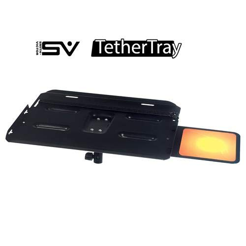 TetherTray Heavy Duty Laptop tray with Removable Mouse Tray, Pivot Bracket and Safety Straps