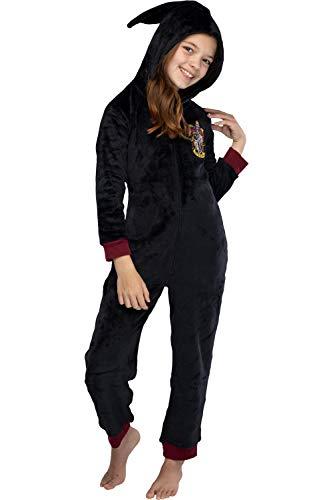 INTIMO Harry Potter Unisex Kids Gryffindor Hooded One-Piece Pajama Union Suit (10/12)