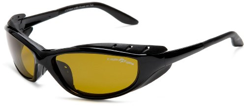 Eagle Eyes Futura Polarized Sunglasses - Black Satin Wrap Around - Wrap Sunglasses Space Around
