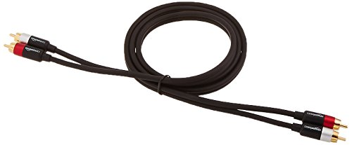 AmazonBasics 2-Male to 2-Male RCA Audio Cable – 4 Feet