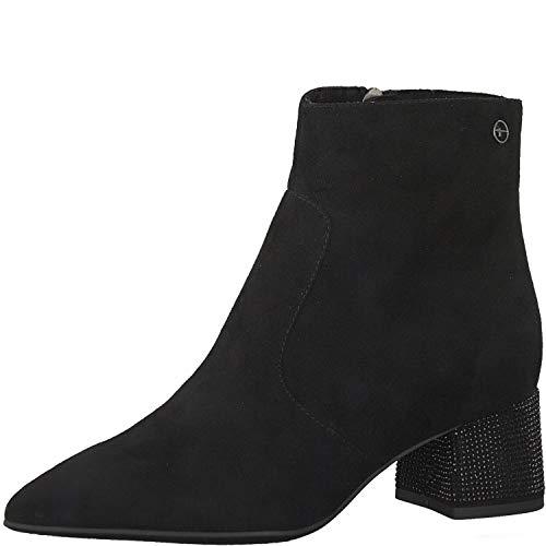 Ankle Glam Black Tamaris Boot Heel Verity zHtUx