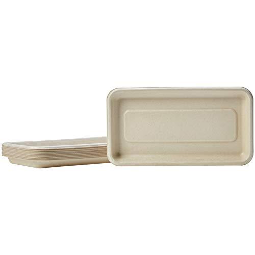 AmazonBasics Compostable Tray, Kraft, 8.3 x 4.5 Inches, 500 Trays by AmazonBasics (Image #3)