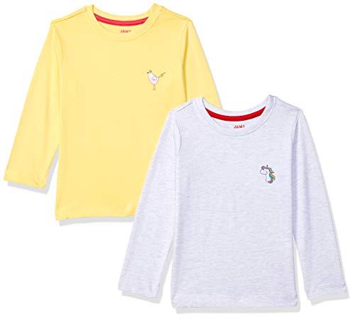 Amazon Brand – Jam & Honey Girl's Regular T-Shirt (AW20GTS-C-PO2_Multicolor 5 7-8 Years)