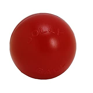 Jolly Pets Push-n-Play Ball Dog Toy, 10 Inches/Large, Red