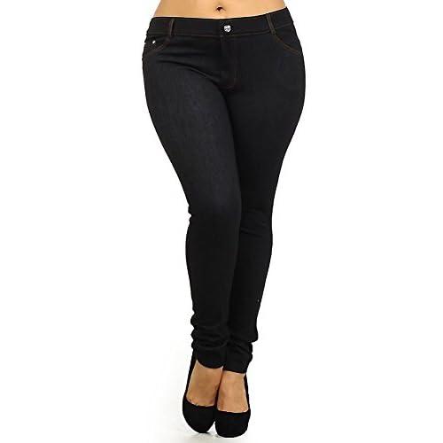 Yelete Denim Blue look Women/'s Jegging Shorts