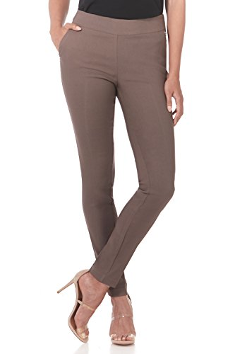 (Rekucci Women's Ease in to Comfort Modern Stretch Skinny Pant w/Tummy Control (12,Mocha))