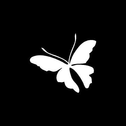 Exterior Accessories Color Name: Black 15.4CM*13.6CM Delicate Butterfly Minimallist Vinyl Decal Car Sticker Black/Silver C19-0517