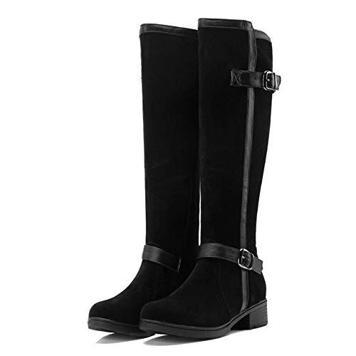 Low Riding Fashion Heel Women Boots RAZAMAZA Black xqw74ICnn
