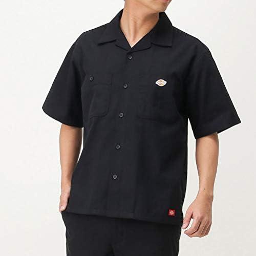ワークシャツ 半袖 シャツ カジュアルシャツ メンズ TCワークオープンシャツ オープンカラー ブランドロゴ 0270-5400